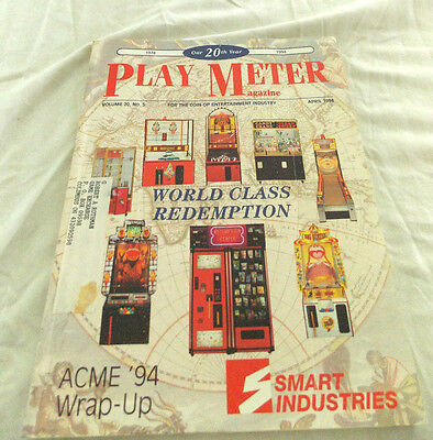 Play Meter Magazine, April 1994. World Class Redemption
