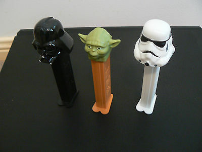 Pez Dispensers X 3   -    Star Wars