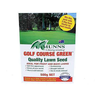Lawn Seed Golf Course Green Grass Seed Munns 500g Covers up to 20sqm