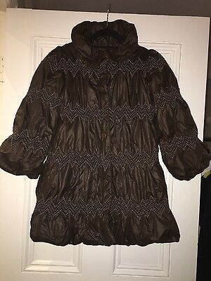 Missoni Girls Brown Quilted Coat 10y