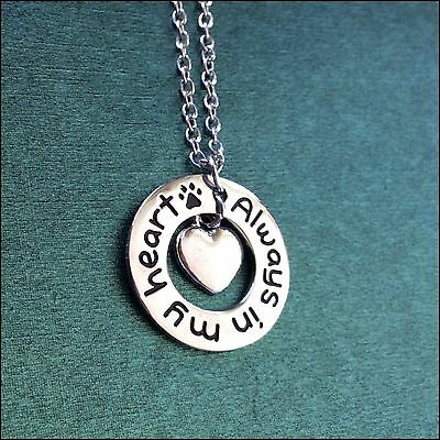 """""""Always In My Heart"""" Pendant & Chain, Dog Rescue"""