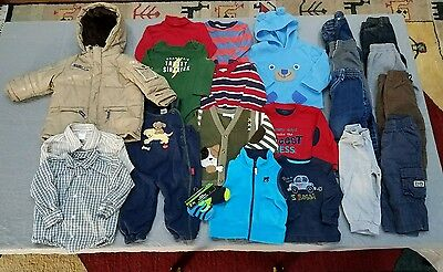 Baby Boy's Lot 23 Clothes Tops Pants Jackets Size 18/18-24 Mo.fall/winter