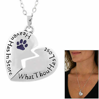 Paw Print Remembrance Necklace, Dog Rescue