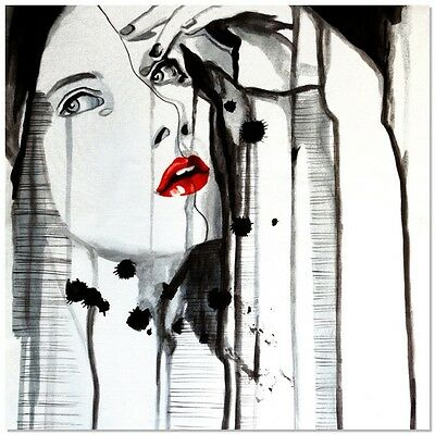 Manor Heart Hand Painted Canvas Wall Art Figurative Portrait Oil Painting