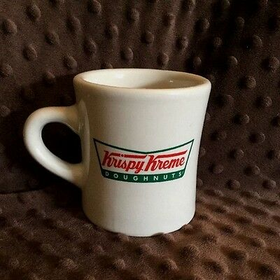Krispy Kreme Doughnuts Diner Style Coffee Mug Cup Advertising Heavy GUC