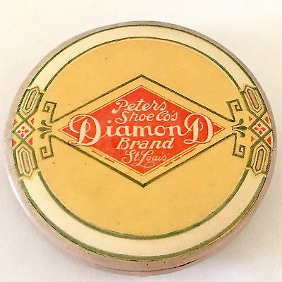 Vintage Peters Diamond Shoes Advertising Powder Compact 1915 Parisian Novelty