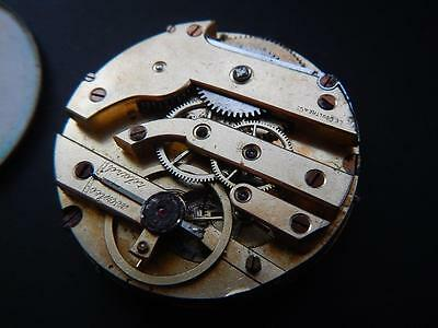 Antique LE COULTRE Pocket Watch Movement Vintage 1900's Leccoultre Pocketwatch