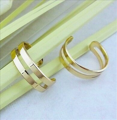 QTY 1 14Ct Gold Plated over Brass Toe Ring - adjustable