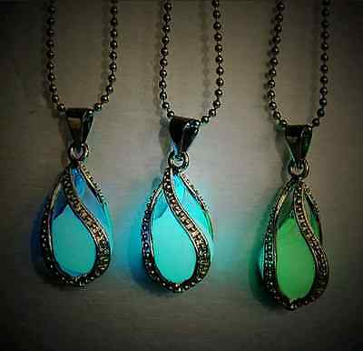 Little Mermaid's Teardrop Glow in Dark Pendant