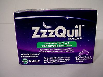 c New Sealed Vicks Nyquil Zzzquil Liquicaps Nighttime Sleep Aid