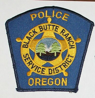 BLACK BUTTE RANCH SERVICE DIST. POLICE Oregon OR PD Used Worn patch