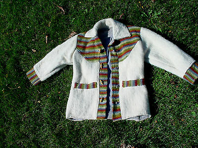 An Unusual Top Quality Wool Childs Coat Very Nice Detailing