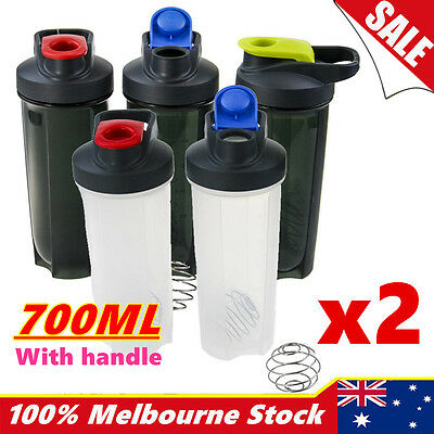 700ml Shaker Bottle Protein Gym Sport Drink Smart Blender Cup Mixer Shake Ball