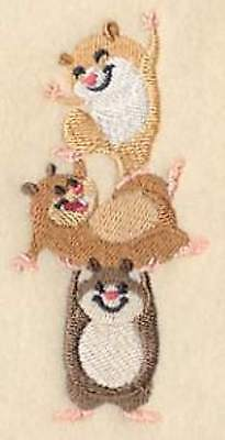 Hamster Stack Embroidery Patch large size