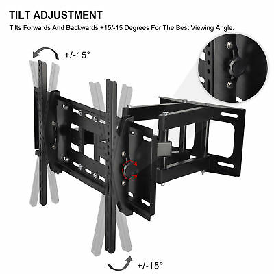 TV Wall Mount Tilt Swivel Bracket 40 42 46 48 50 55 60 65 70 inch LCD LED Plasma