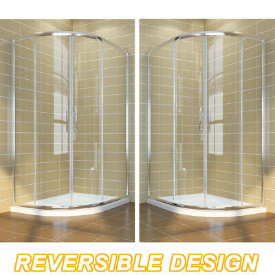 Quadrant Shower Enclosure and Tray Cubicle Corner Entry 6mm Safety Glass Door