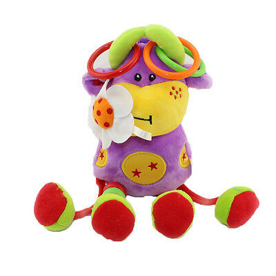 Baby Rattle Soft Plush Animal Toy Stroller Bed Hanging Bell Dolls Teether Toys