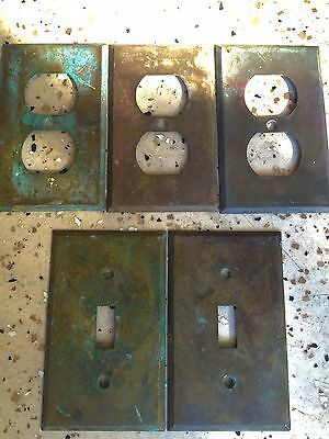Antique Brass Switch Plate Covers and Outlet Plates Vintage Trim Home Decor