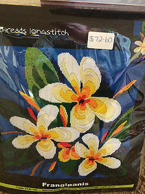 Long Stitch Kit - Frangipanis - Country Threads