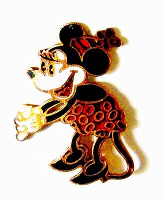 Vintage 1930's Enamel - Brass Disney Minnie Mouse Brooch