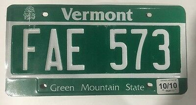 Vermont State License Plate
