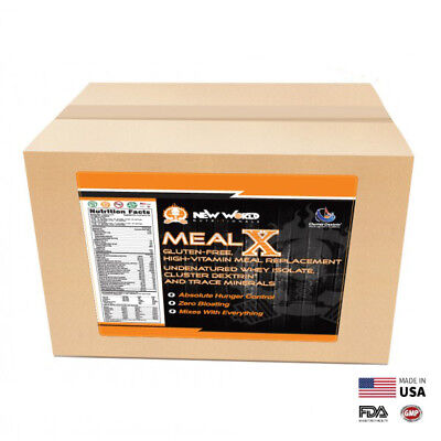 15lb MealX Bulk Meal Replacement Weight Loss Shake Gluten-Free STRAWBERRY