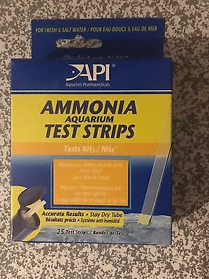 API Ammonia Test Strips x 25 Tropical Fish Tank Discus Coldwater Marine
