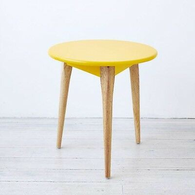 Adairs Tripod Side Tables Yellow X 2