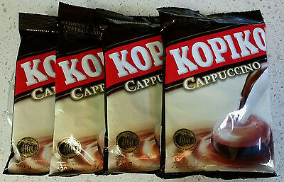 4 Packs Kopiko Cappuccino Strong & Rich Coffee Candy