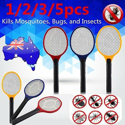 1/2/3/5X Electric Practical Insect Bug Fly Mosquito Zapper Swatter Killer Racket