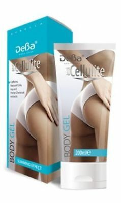 DeBa Anti-Cellulite Gel 200 ml.Caffeine Natural Extracts of Cola All Skin Types