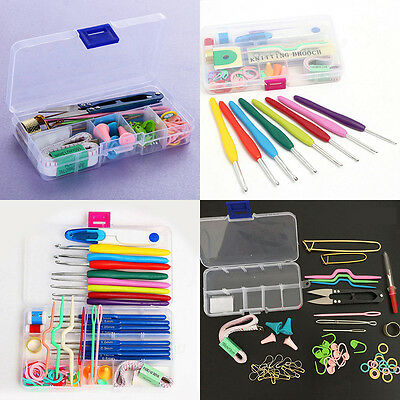 16 sizes Crochet Needles Hooks Stitches Knitting Craft Case Knitting Tools Set
