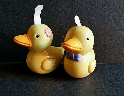 Hard Plastic QUACKING DUCK Toy set of 2 by Russ #27635 Baby / Easter Basket item