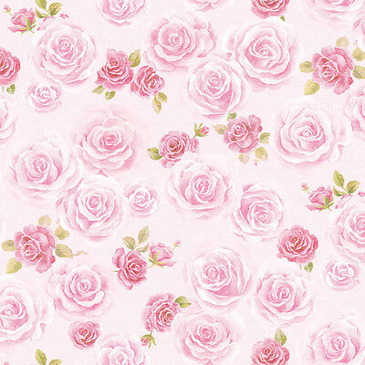 Floral Pink Rose Contact Paper Self Adhesive Wallpaper Home Wall Stickers Roll