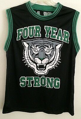 FOUR YEAR STRONG double sided BLACK & GREEN BASKETBALL JERSEY Personalized