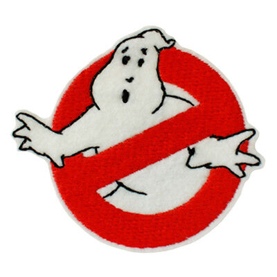Embroidered Ghostbusters Sew & Iron On Patch Retro Cartoon Character Comics