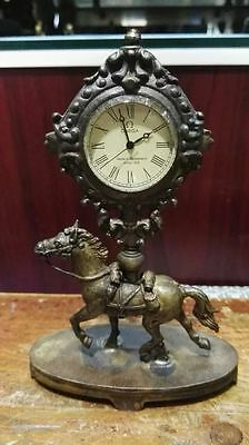beautiful copper make Horse machinery clock