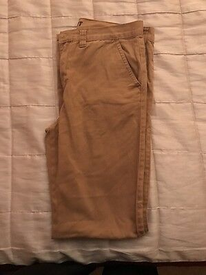 Boys Brown Chino Trousers Size 12-13 Slim Fit by Denim Co