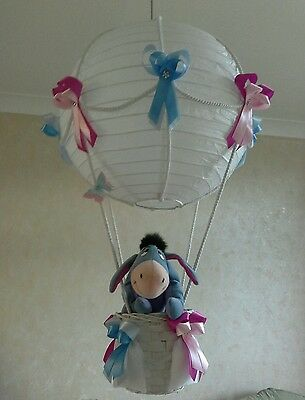 Eeyore  in Hot Air Balloon light lamp  shade     Made To Order