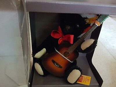 Steiff Limited Edition Musical Teddy Bear With Guitar And Musical  Box