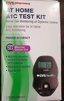 CVS PHARMACY At Home A1C Test Kit  2 Test Proven Accuracy. Exp 2016/12/02