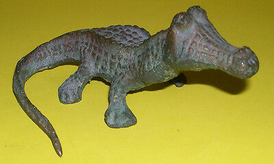 Vintage Bronze Model Of A Crocodile - Strong Patina - Lovely Detail.