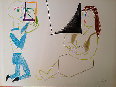 Pablo Picasso Limited Edition Dated Lithograph - The Human Comedy 1954