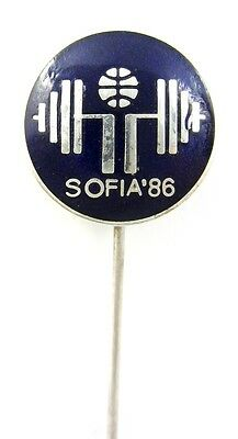 1986 World Weightlifting Championships Official Pin Badge Enamel