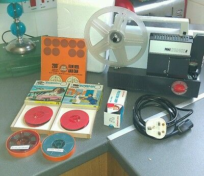 prinz compere 8 cine projector with films