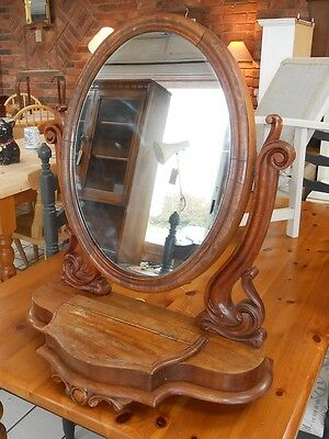 Antique Dresser Top Mirror. LOCATED BS24 7BE. Delivery available.