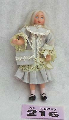 #216 Victorian  girl doll for dolls house 1/12 scale