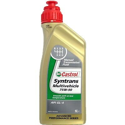 1 Liter Castrol Syntrans Multivehicle 75W-90 Manual Transmission Fluid