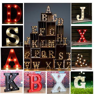 12'' White Lights LED Marquee Letters Alphabet Vintage Circus Style Light Up UK