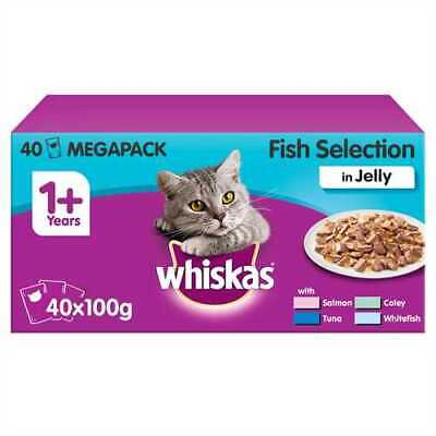 Whiskas 1+ Years Cat Pouches Fish Selection in Jelly  40 x 100g